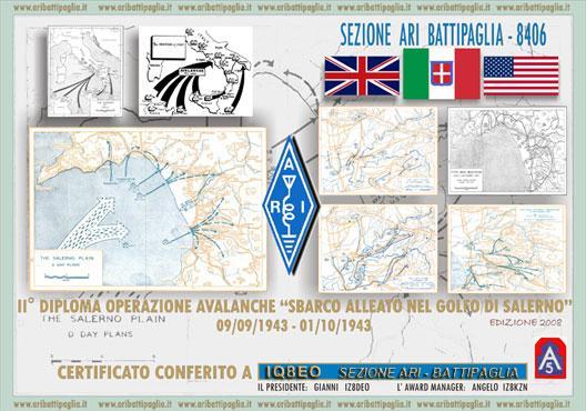III Diploma OPERAZIONE AVALANCHE Sbarco Alleato a Salerno 200973012234_avalanche_2008